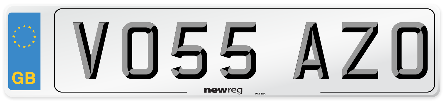 VO55 AZO Number Plate from New Reg