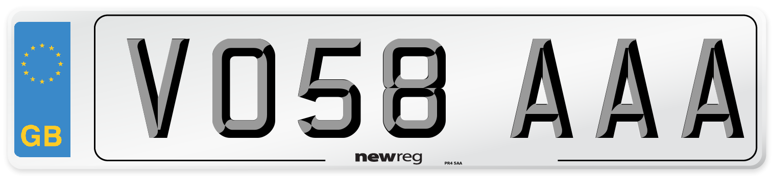 VO58 AAA Number Plate from New Reg