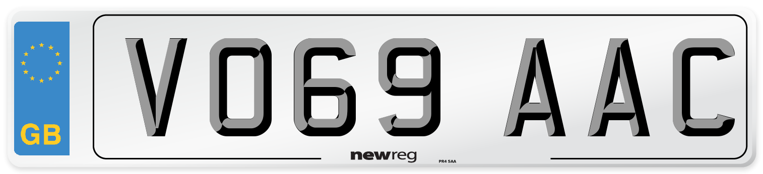 VO69 AAC Number Plate from New Reg