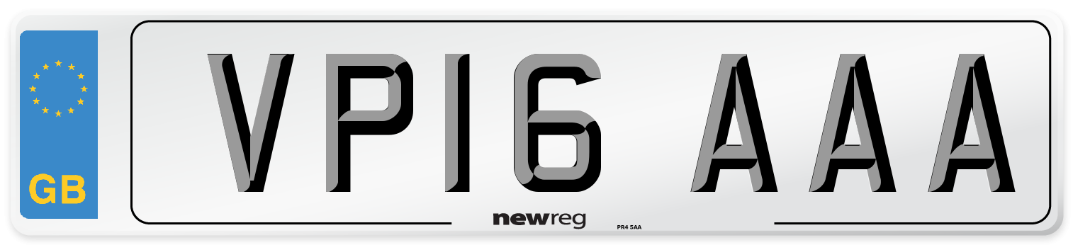 VP16 AAA Number Plate from New Reg