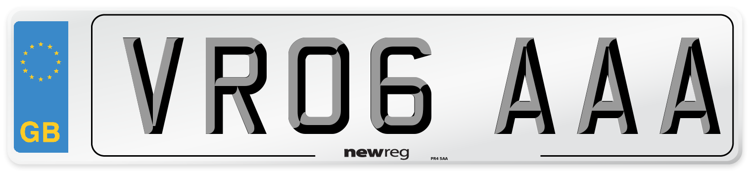 VR06 AAA Number Plate from New Reg