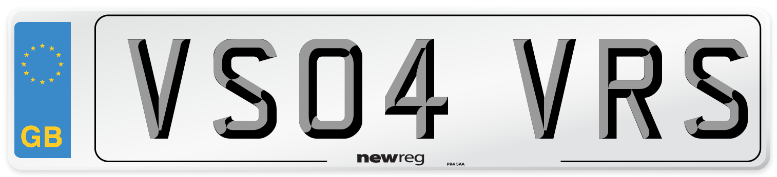 VS04 VRS Number Plate from New Reg