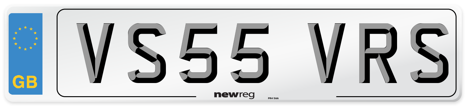 VS55 VRS Number Plate from New Reg