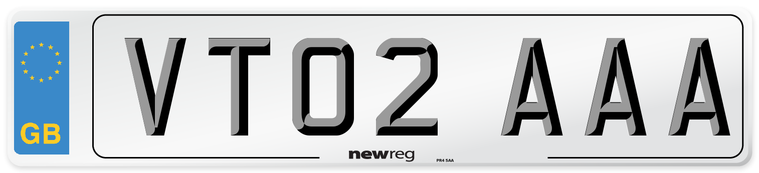 VT02 AAA Number Plate from New Reg
