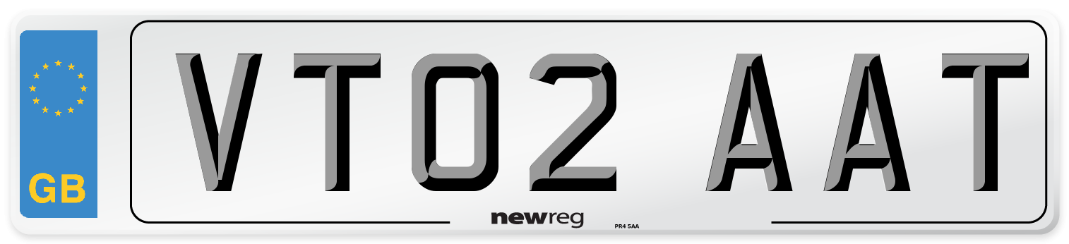 VT02 AAT Number Plate from New Reg