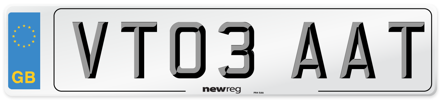 VT03 AAT Number Plate from New Reg