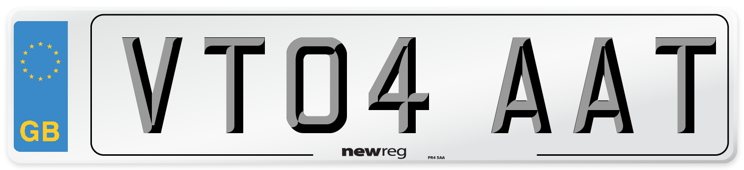 VT04 AAT Number Plate from New Reg