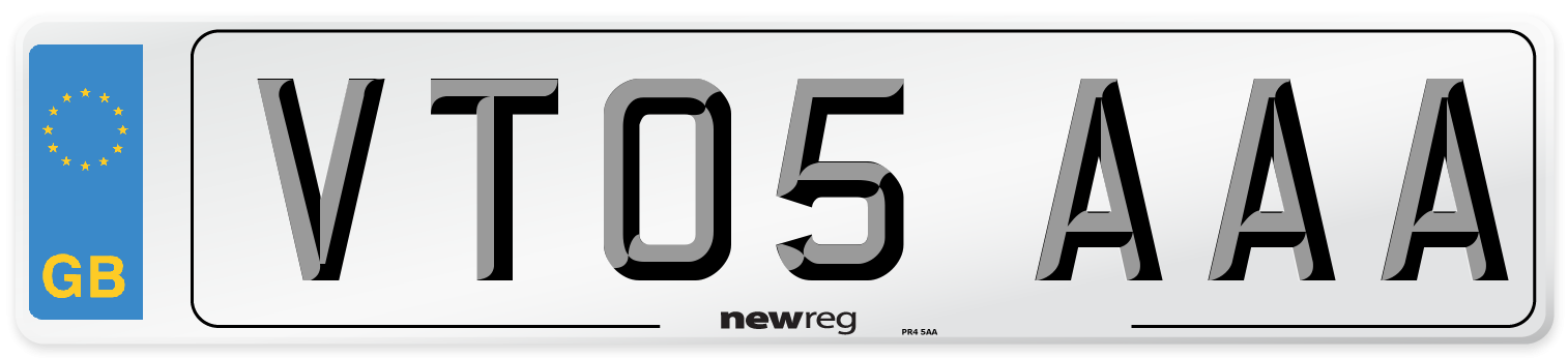 VT05 AAA Number Plate from New Reg