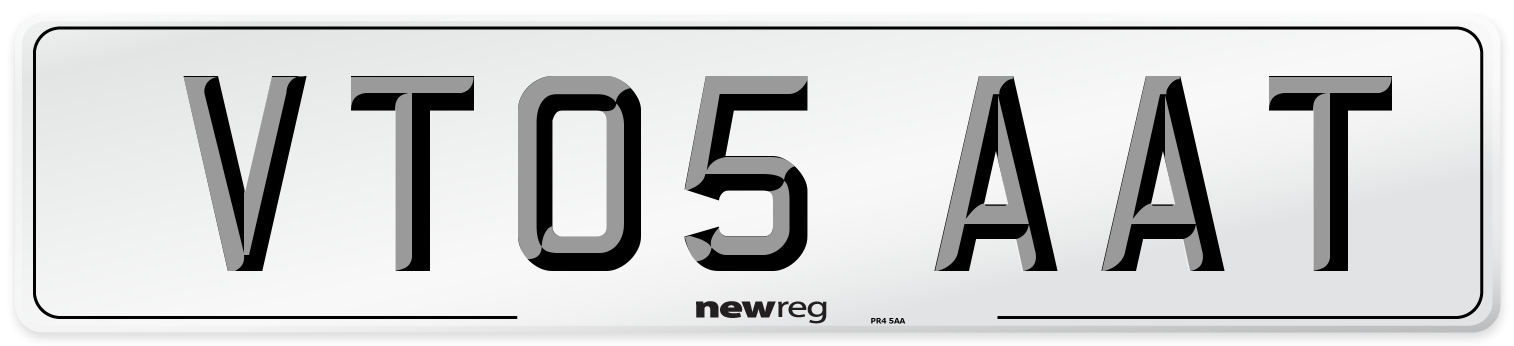 VT05 AAT Number Plate from New Reg