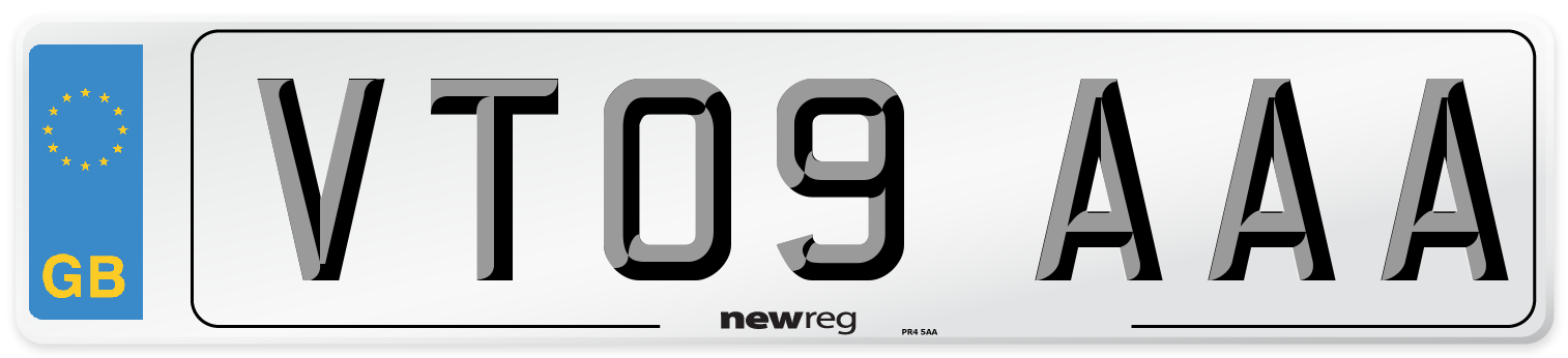 VT09 AAA Number Plate from New Reg