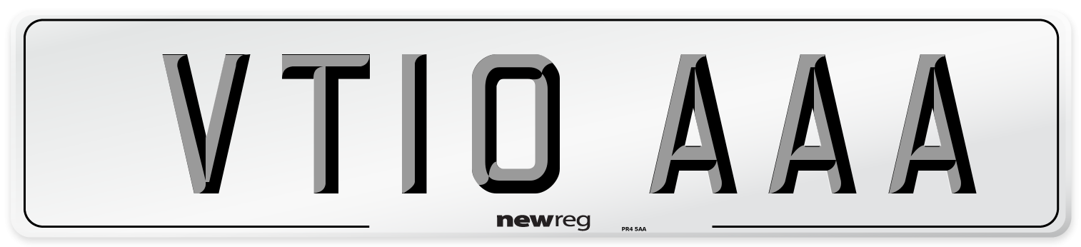 VT10 AAA Number Plate from New Reg