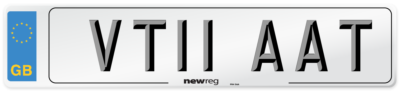 VT11 AAT Number Plate from New Reg