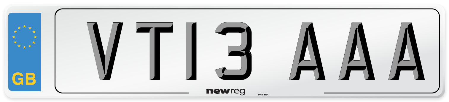 VT13 AAA Number Plate from New Reg