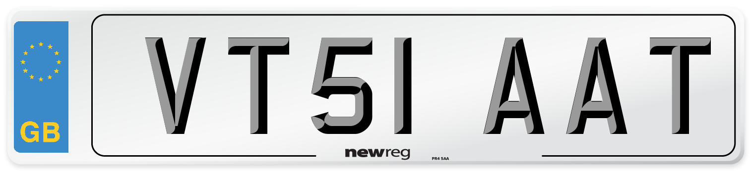 VT51 AAT Number Plate from New Reg