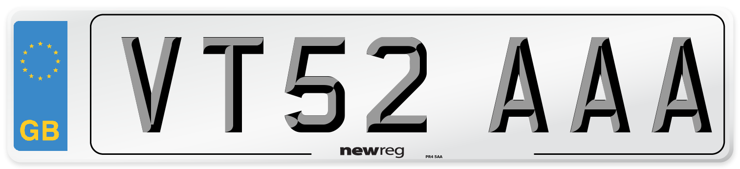 VT52 AAA Number Plate from New Reg