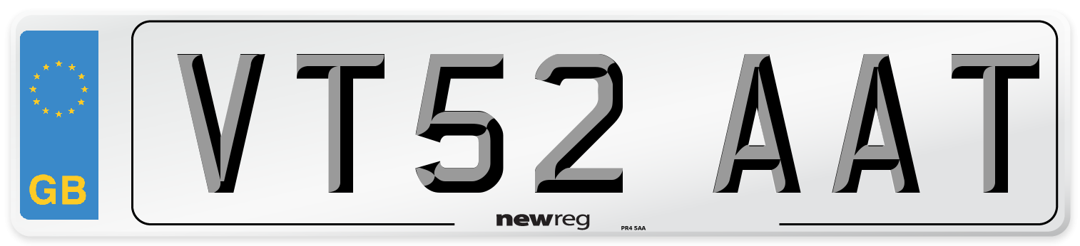 VT52 AAT Number Plate from New Reg