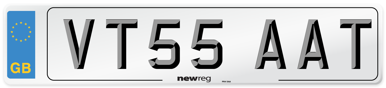 VT55 AAT Number Plate from New Reg