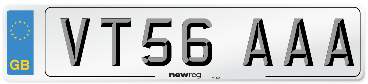 VT56 AAA Number Plate from New Reg
