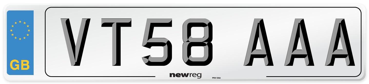 VT58 AAA Number Plate from New Reg