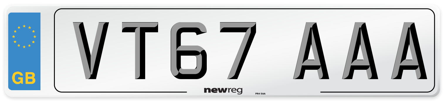 VT67 AAA Number Plate from New Reg
