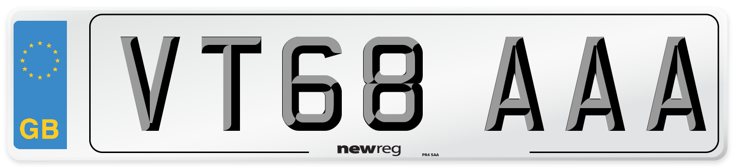 VT68 AAA Number Plate from New Reg