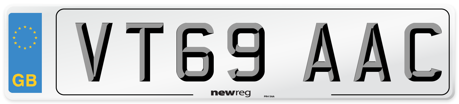 VT69 AAC Number Plate from New Reg