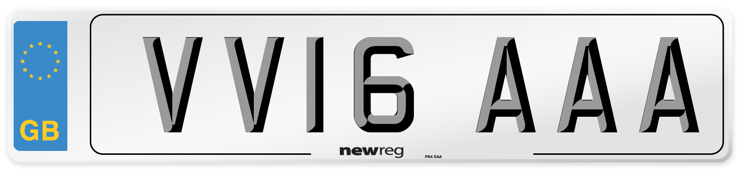 VV16 AAA Number Plate from New Reg