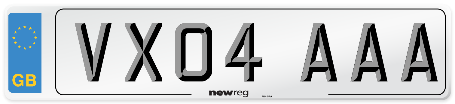 VX04 AAA Number Plate from New Reg