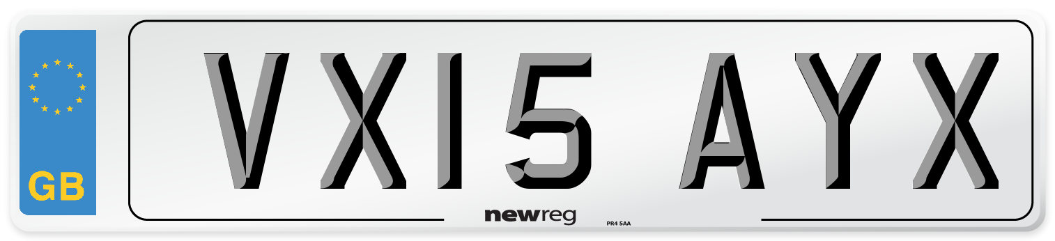 VX15 AYX Number Plate from New Reg