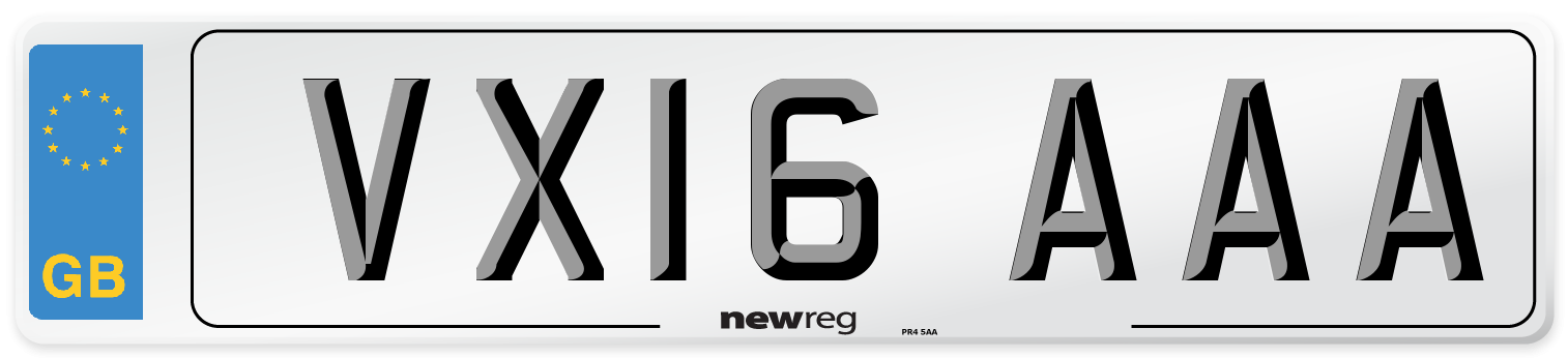 VX16 AAA Number Plate from New Reg