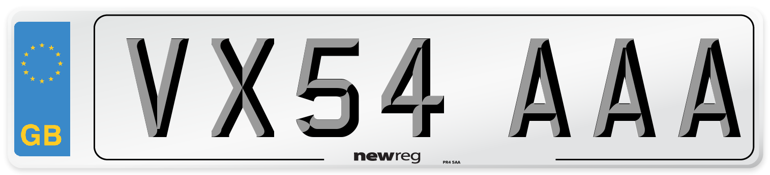 VX54 AAA Number Plate from New Reg