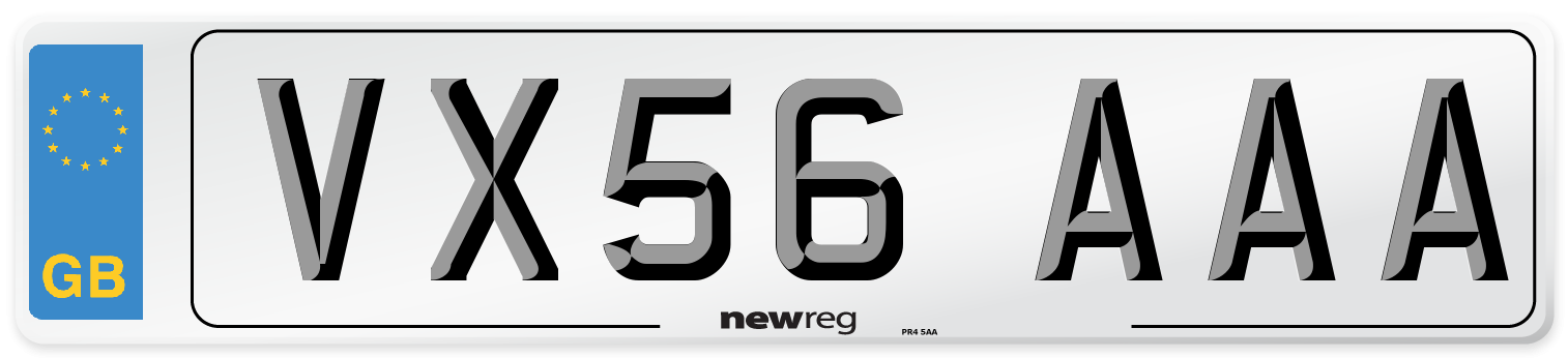 VX56 AAA Number Plate from New Reg
