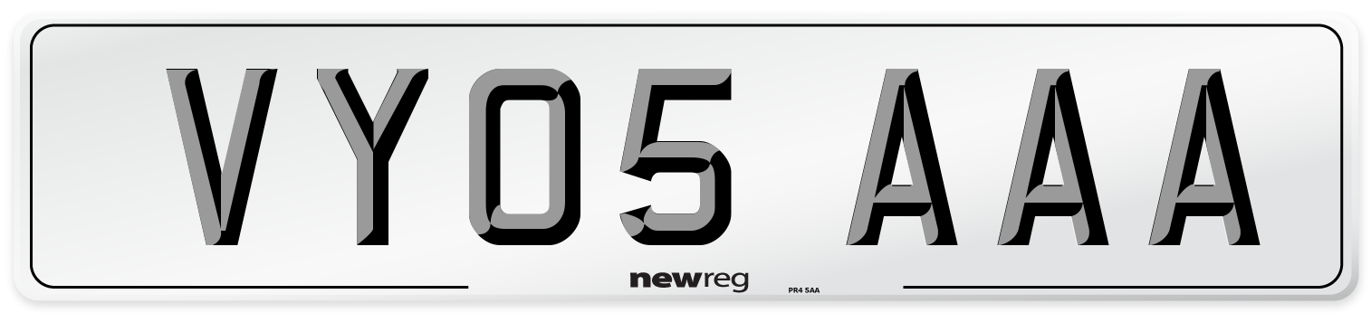VY05 AAA Number Plate from New Reg