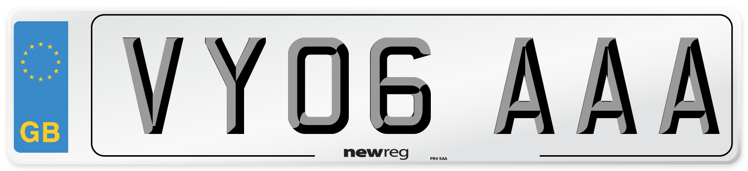 VY06 AAA Number Plate from New Reg