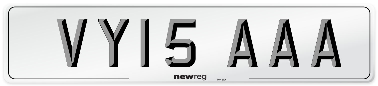 VY15 AAA Number Plate from New Reg