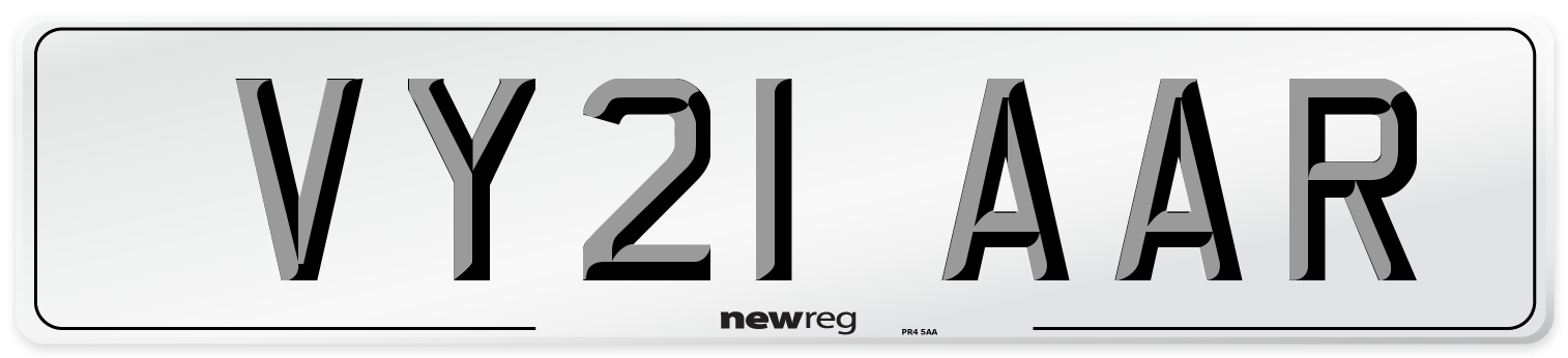 VY21 AAR Number Plate from New Reg