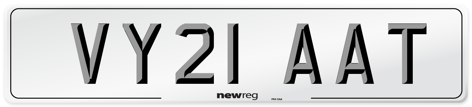 VY21 AAT Number Plate from New Reg