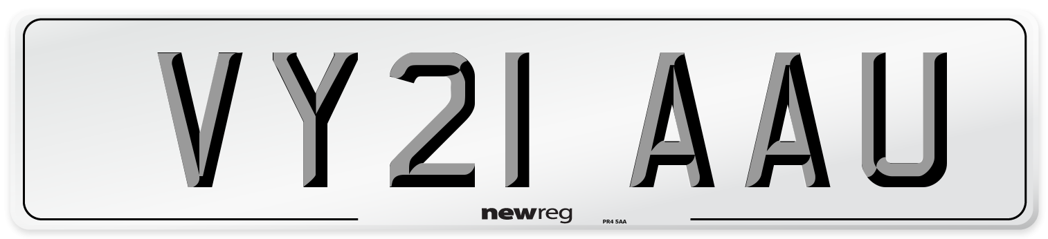 VY21 AAU Number Plate from New Reg