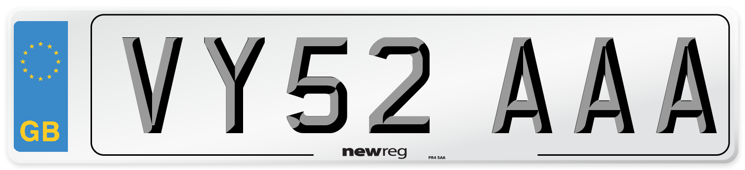 VY52 AAA Number Plate from New Reg