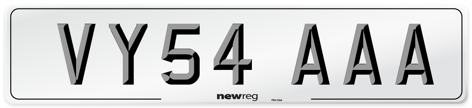 VY54 AAA Number Plate from New Reg