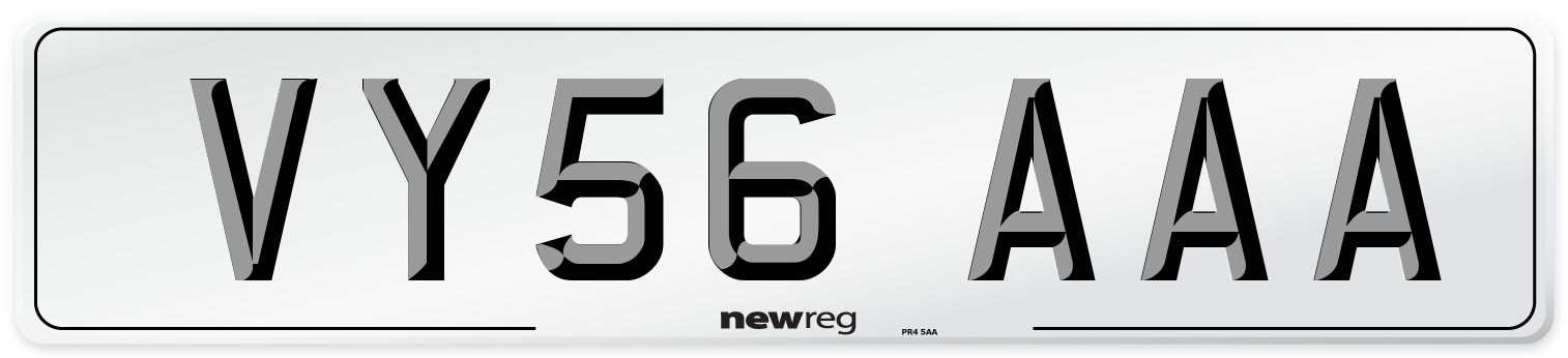 VY56 AAA Number Plate from New Reg