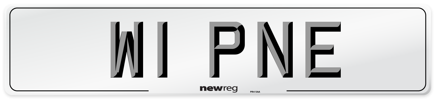 W1 PNE Number Plate from New Reg