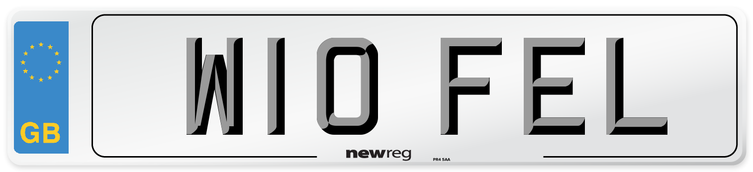 W10 FEL Number Plate from New Reg