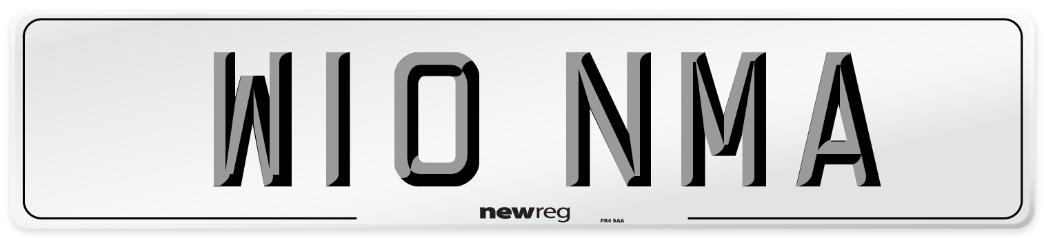 W10 NMA Number Plate from New Reg