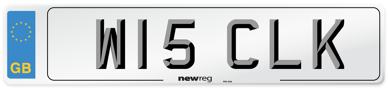 W15 CLK Number Plate from New Reg