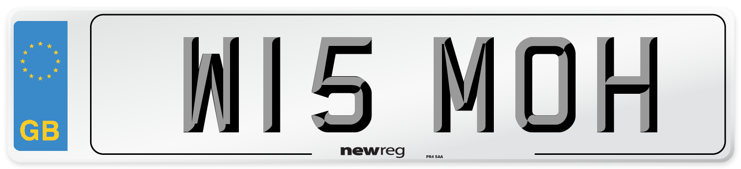 W15 MOH Number Plate from New Reg