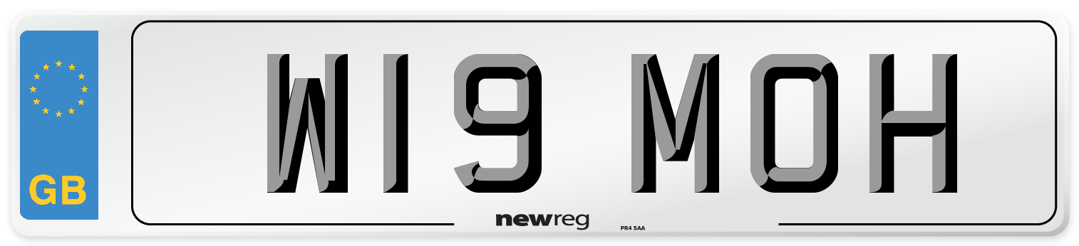 W19 MOH Number Plate from New Reg
