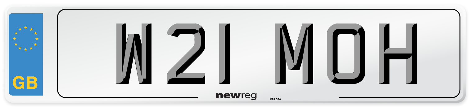 W21 MOH Number Plate from New Reg