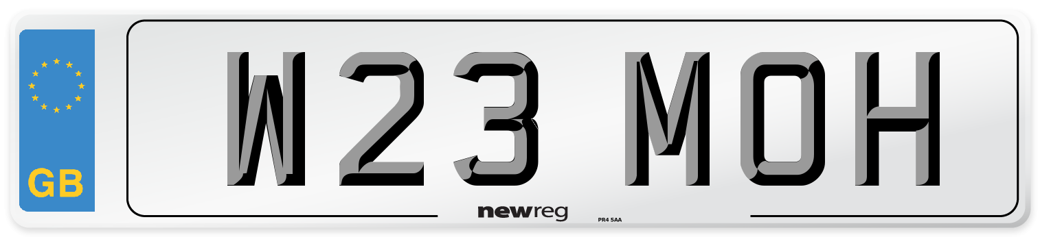 W23 MOH Number Plate from New Reg