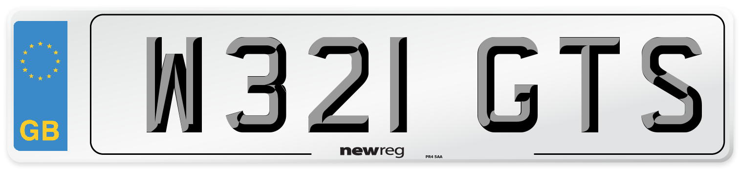 W321 GTS Number Plate from New Reg